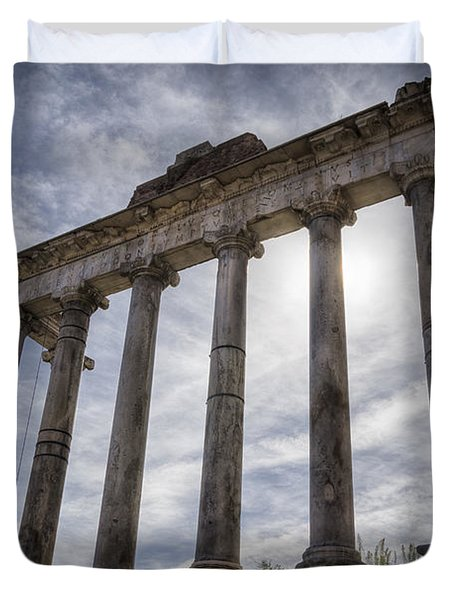 Faded Glory Of Rome Duvet Cover by Joan Carroll
