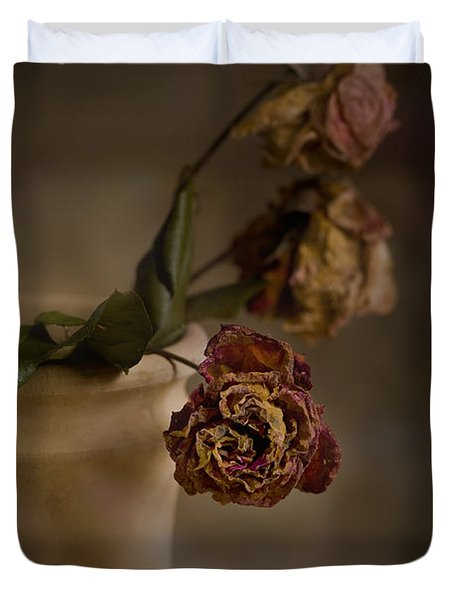 Duvet Cover featuring the photograph Fading Away by Trevor Chriss
