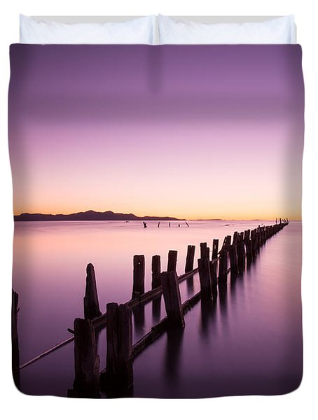 Duvet Cover featuring the photograph Fading by Dustin  LeFevre