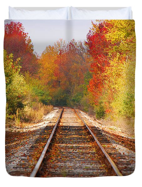 Fading Tracks Duvet Cover