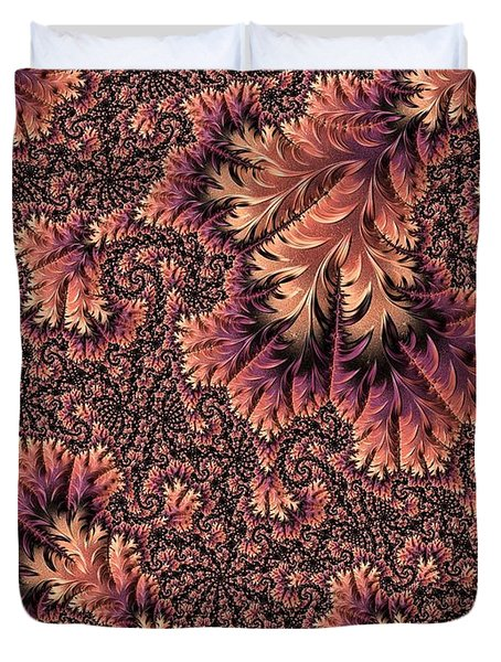 Duvet Cover featuring the digital art Faerie Forest Floor Ill by Susan Maxwell Schmidt