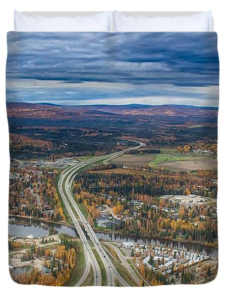 Fairbanks Alaska The George Parks Highway Duvet Cover by Michael Rogers