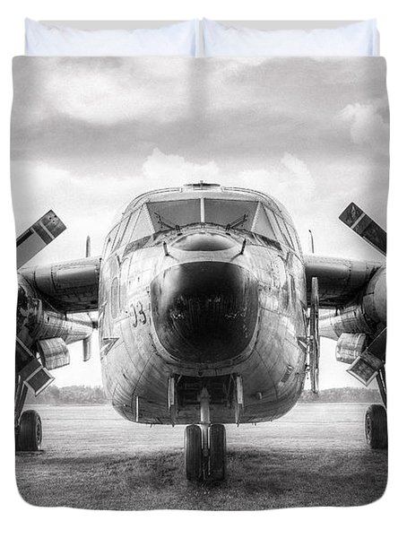 Duvet Cover featuring the photograph Fairchild C-119 Flying Boxcar - Military Transport by Gary Heller