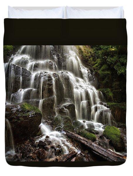 Fairy Falls Oregon Duvet Cover