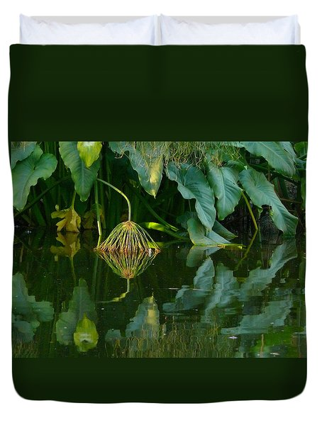 Fairy Pond Duvet Cover by Evelyn Tambour