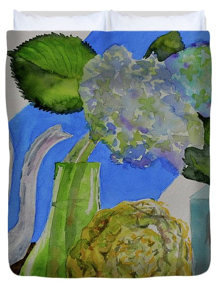 Duvet Cover featuring the painting Fairy Soda Fine Crackers by Beverley Harper Tinsley