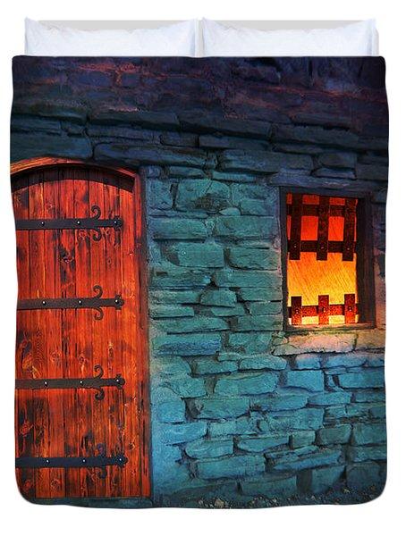 Fairy Tale Cabin Duvet Cover