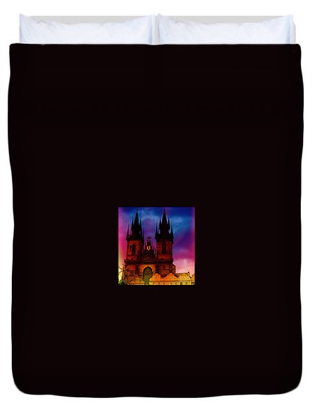 Fairy Tale Castle Prague Duvet Cover