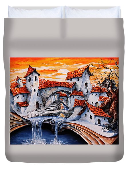 Fairy Tale City - Magic Stream Duvet Cover by Emerico Imre Toth