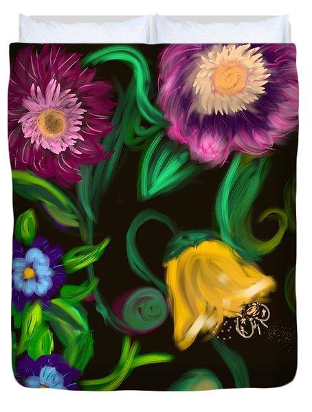 Fairy Tale Flowers Duvet Cover