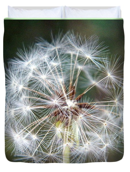 Duvet Cover featuring the photograph Fairy Umbrellas by Kathy Barney