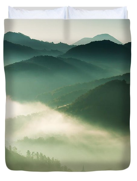 Fairyland Morning Duvet Cover by Mircea Costina Photography