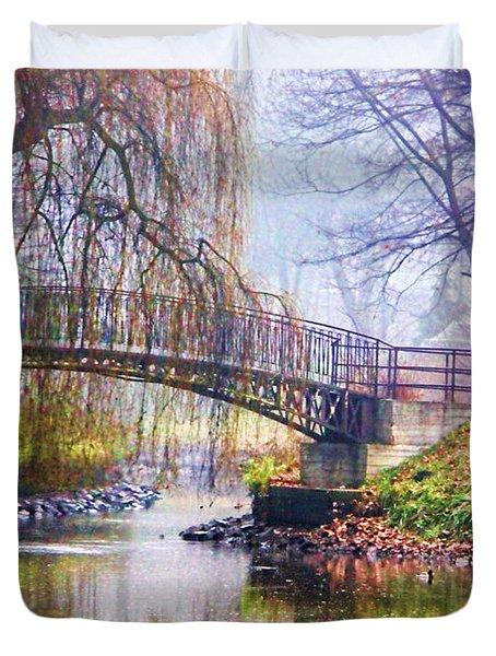 Fairytale Bridge Duvet Cover by Mariola Bitner
