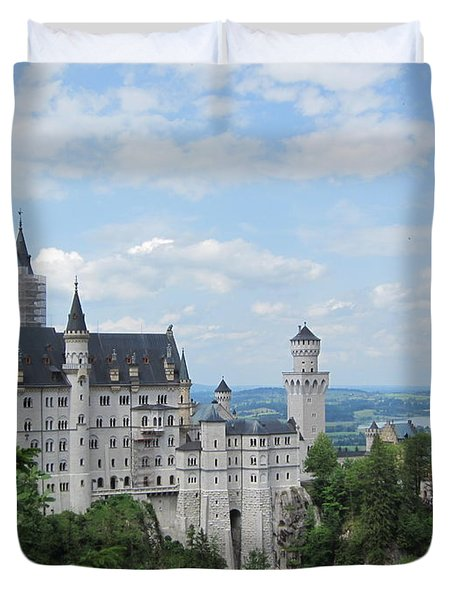 Duvet Cover featuring the photograph Fairytale Castle by Pema Hou