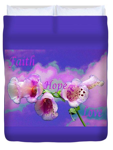 Faith-hope-love Duvet Cover
