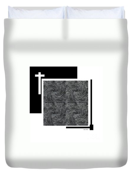 Duvet Cover featuring the digital art Faith by Ann Calvo