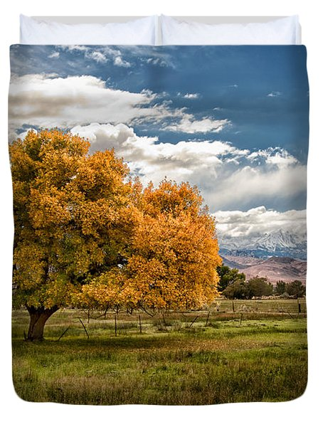 Fall And Winter Duvet Cover