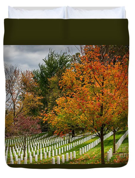 Fall Arlington National Cemetery  Duvet Cover