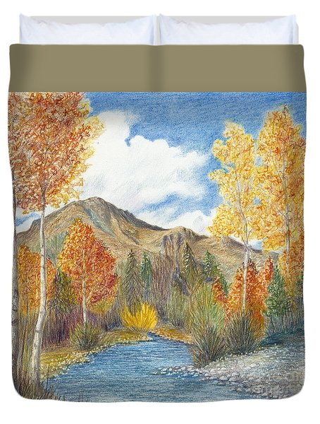 Fall Aspens Duvet Cover