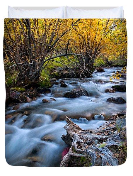 Fall At Big Pine Creek Duvet Cover