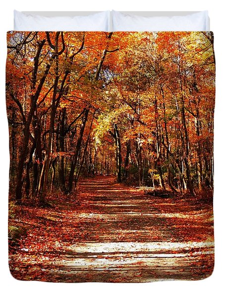 Fall At Cheesequake Duvet Cover
