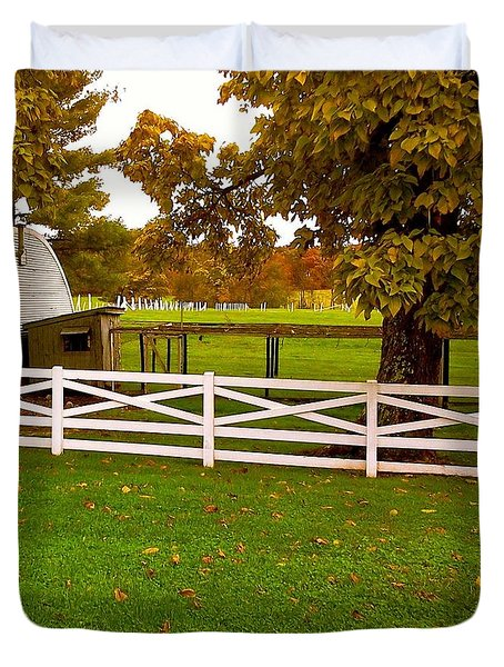 Fall At Eisenhower Farm Duvet Cover