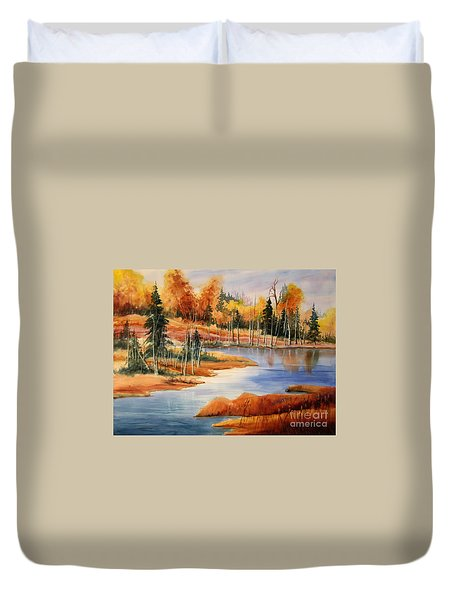 Fall At Elk Island  Duvet Cover by Mohamed Hirji