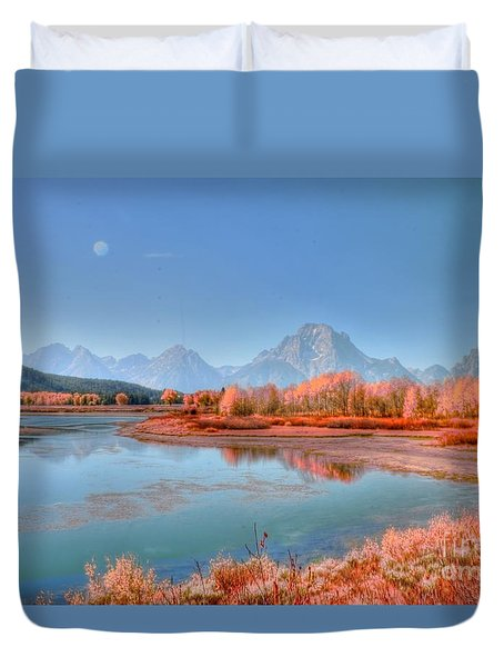 Fall At Oxbow Bend Duvet Cover by Kathleen Struckle