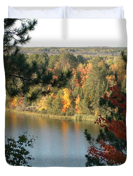 Fall At St. Croix Flowage Duvet Cover