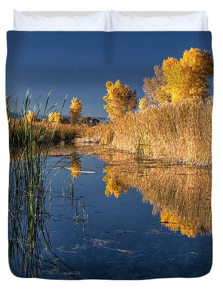 Fall At The Canal Duvet Cover