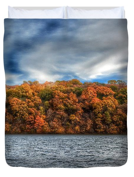 Fall At The Lake Duvet Cover