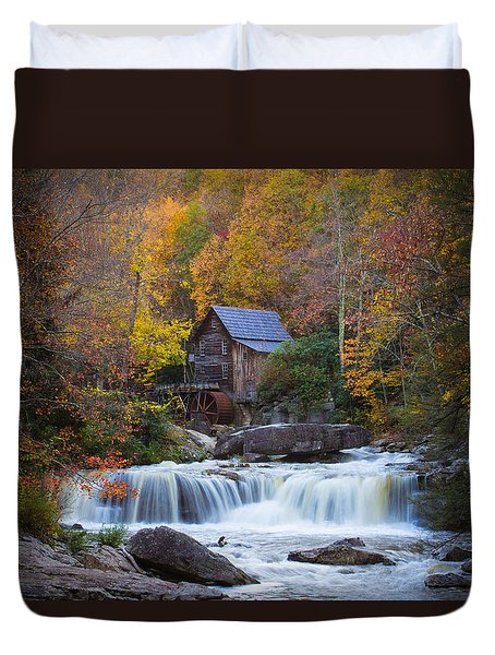 Mill At Babcock State Park Duvet Cover