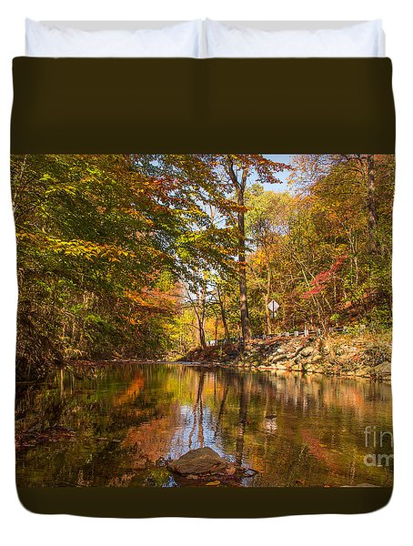 Duvet Cover featuring the photograph Fall At Valley Creek  by Rima Biswas