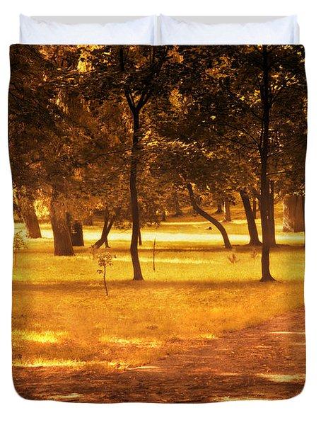 Fall Autumn Park Duvet Cover by Michal Bednarek