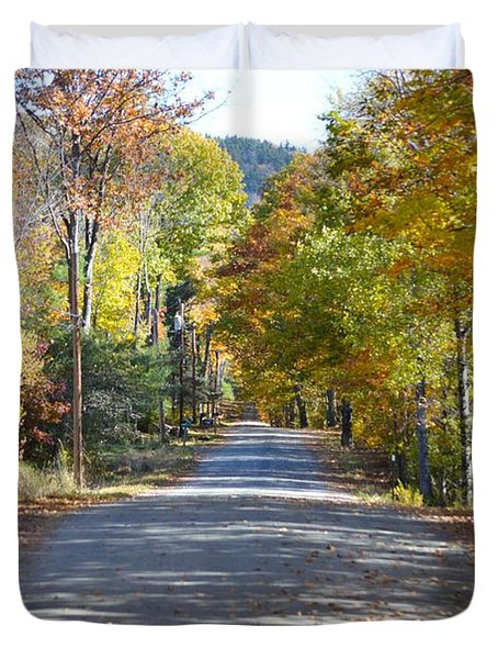 Fall Backroad Duvet Cover