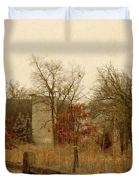 Fall Barn Duvet Cover by Margie Hurwich