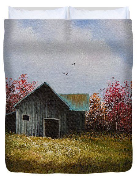 Fall Begins Duvet Cover by C Steele