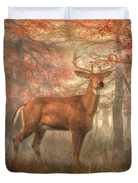 Fall Buck Duvet Cover