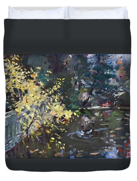 Fall By The Pond Duvet Cover