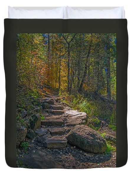 West Fork At Oak Creek Duvet Cover