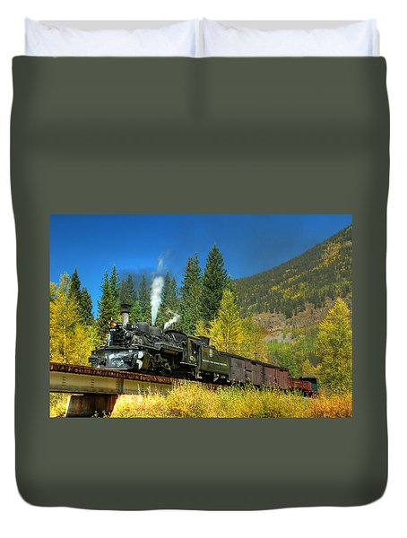 Fall Colored Bridge Duvet Cover by Ken Smith