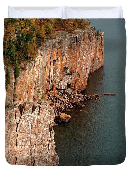 Fall Colors Adorn Palisade Head Duvet Cover