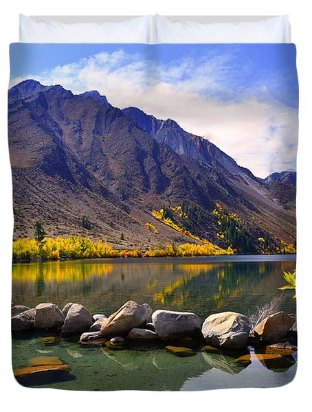 Fall Colors At Convict Lake  Duvet Cover