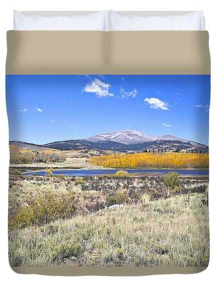 Fall Colors Fairplay Colorado Duvet Cover