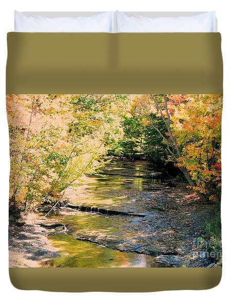 Fall Colors Duvet Cover by Kathleen Struckle