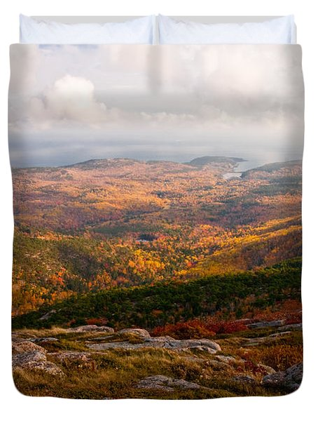 Fall Colors Of Acadia 6656 Duvet Cover by Brent L Ander