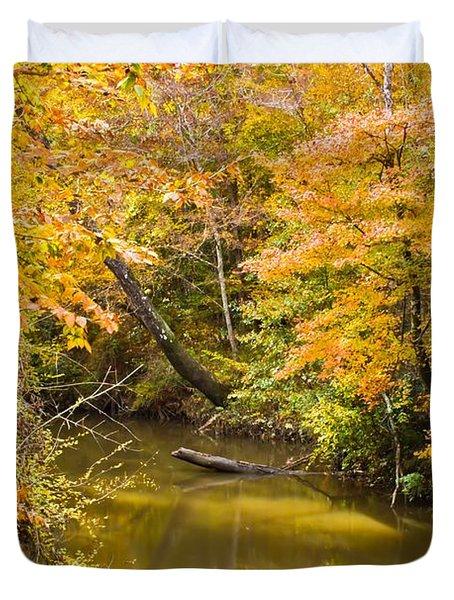 Fall Creek Foliage Duvet Cover