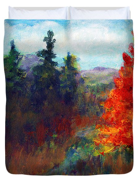 Fall Day Duvet Cover by C Sitton