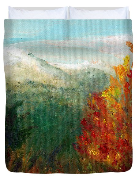 Fall Day Too Duvet Cover by C Sitton