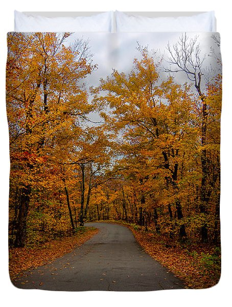 Fall Drive Duvet Cover by Andre Moraes